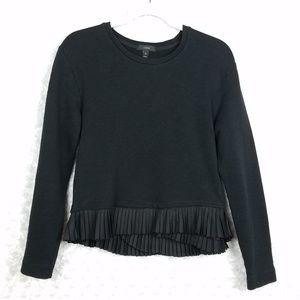 J. Crew Black Peplum Sweater